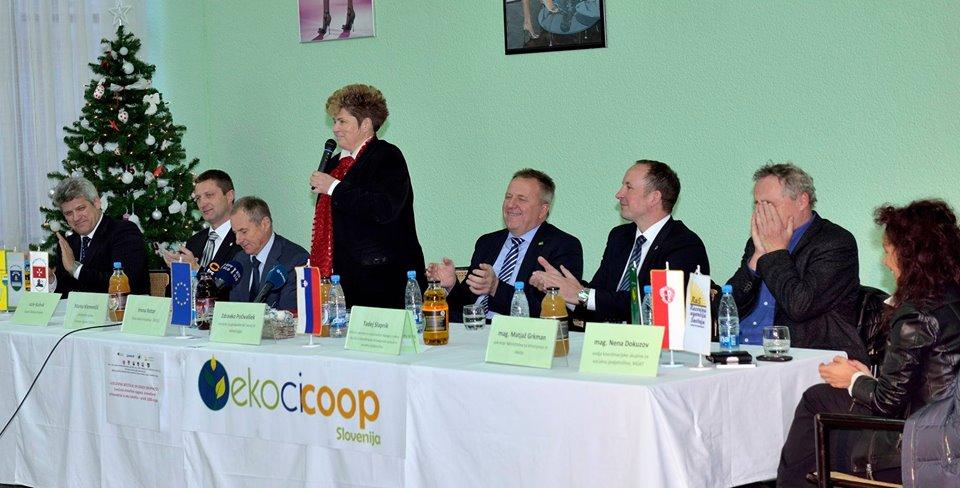 Ekoci COOP   Slovenija - pobuda za proizvodnjo  prihaja iz vrst somišljenikov Ekoci je poudarila Irena Rotar-Ekoci