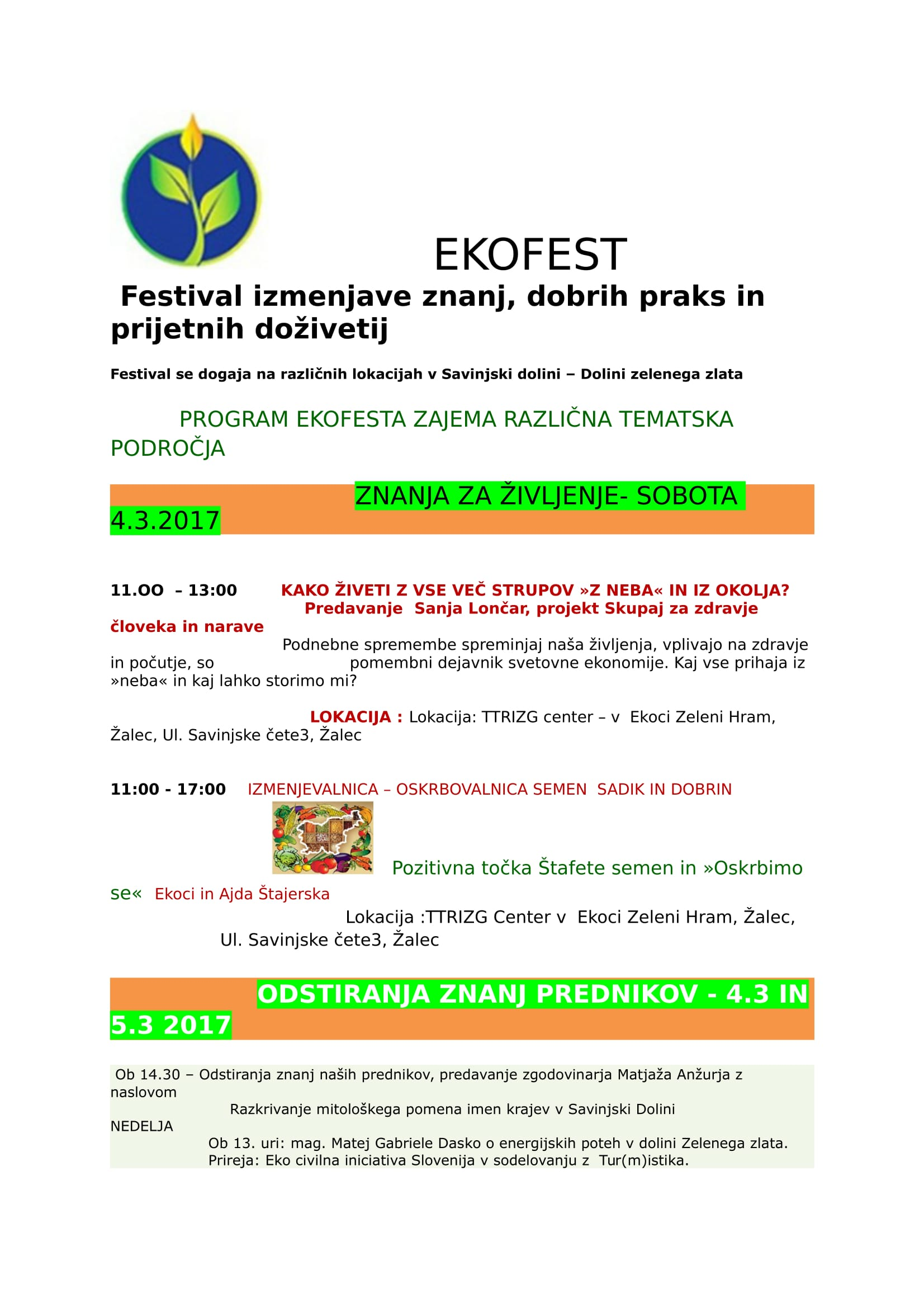 VABILO EKOFEST MAREC - festival v Savinjski dolini - dolini zelenega zlata-1