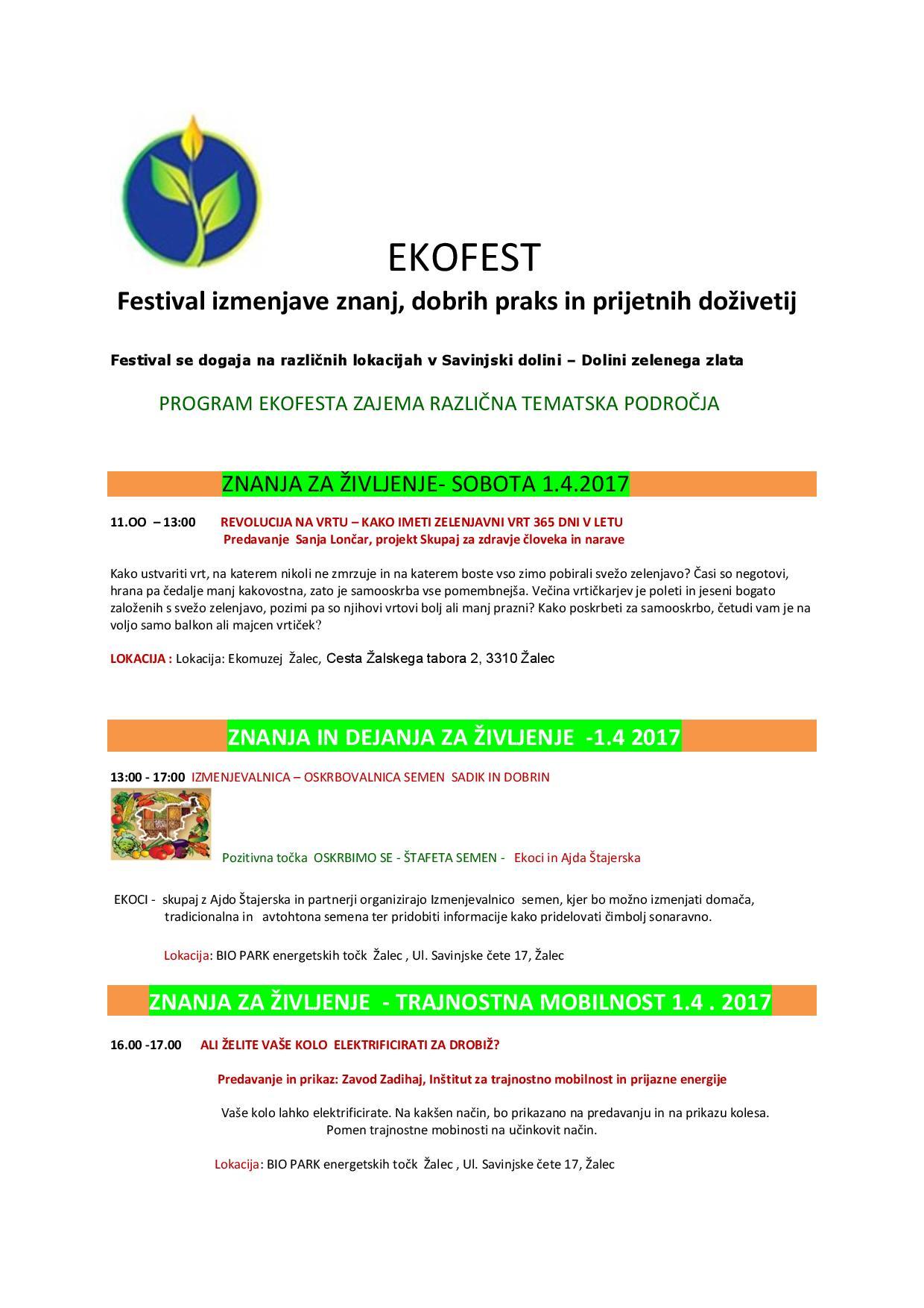 EKOFEST APRIL - v Savinjski dolini - VABILO - Festival izmenjave znanj, dobrih praks in prijetnih doživetij 1 in 2.4. 2017-1-page-001