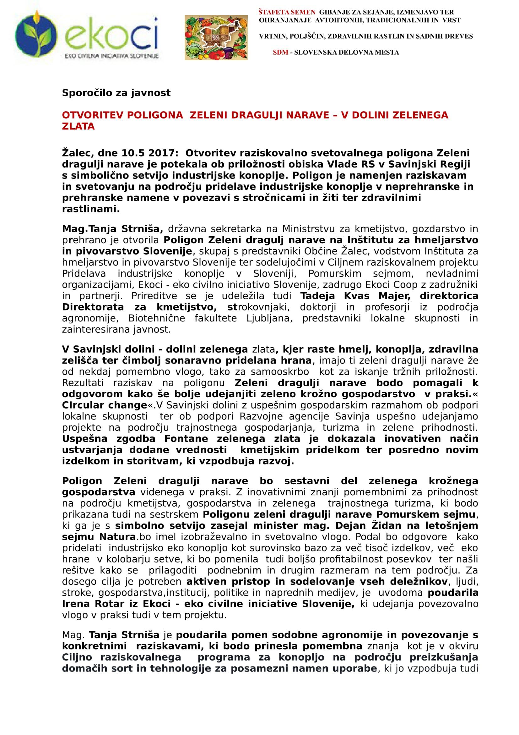 SZJ - OTVORITEV POLIGON ZELENI DRAGULJI NARAVE - V DOLINI ZELENEGA ZLATA-1