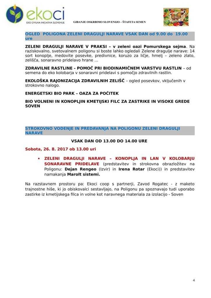 SEJEM AGRA taprava-ZELENI DRAGULJI NARAVE V PRAKSI or.-4