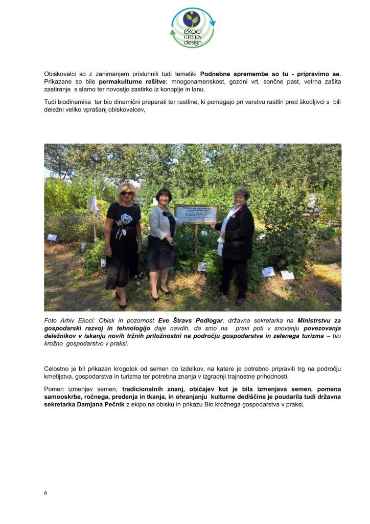 POVZETEK DOGAJANJ NA AGRI - BIO KROŽNO GOSPODARSTVO V PRAKSI or.-06