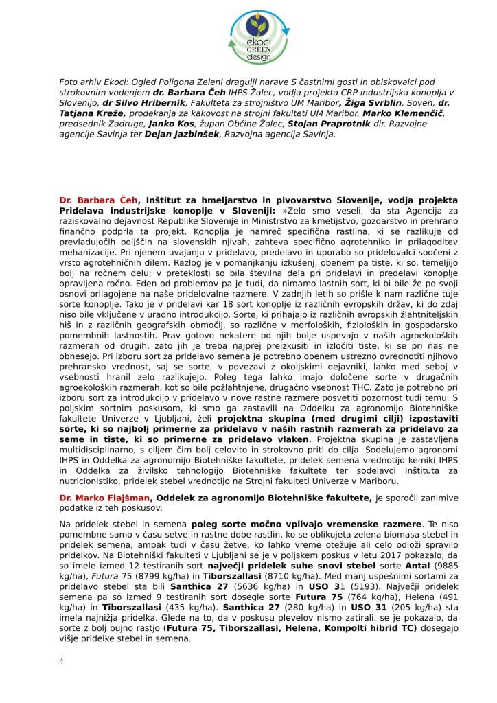 SZJ - posvet Bio krožno gospodarstvo v praksi - industrijska konoplja in podelitev nagrad Ekoci green design-2