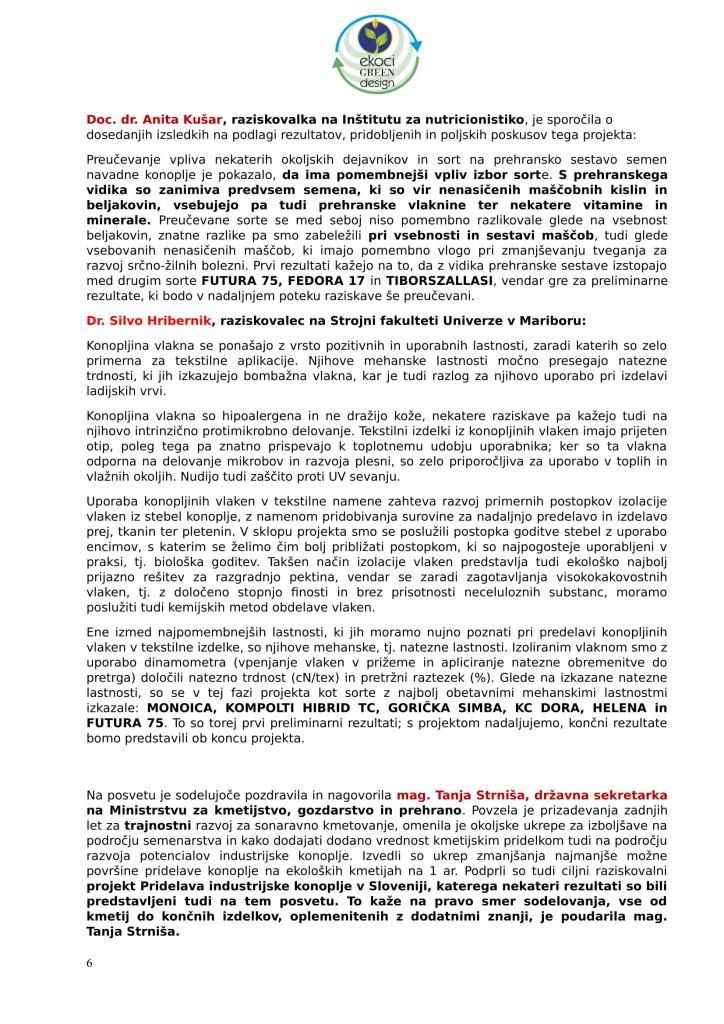 SZJ - posvet Bio krožno gospodarstvo v praksi - industrijska konoplja in podelitev nagrad Ekoci green design-3