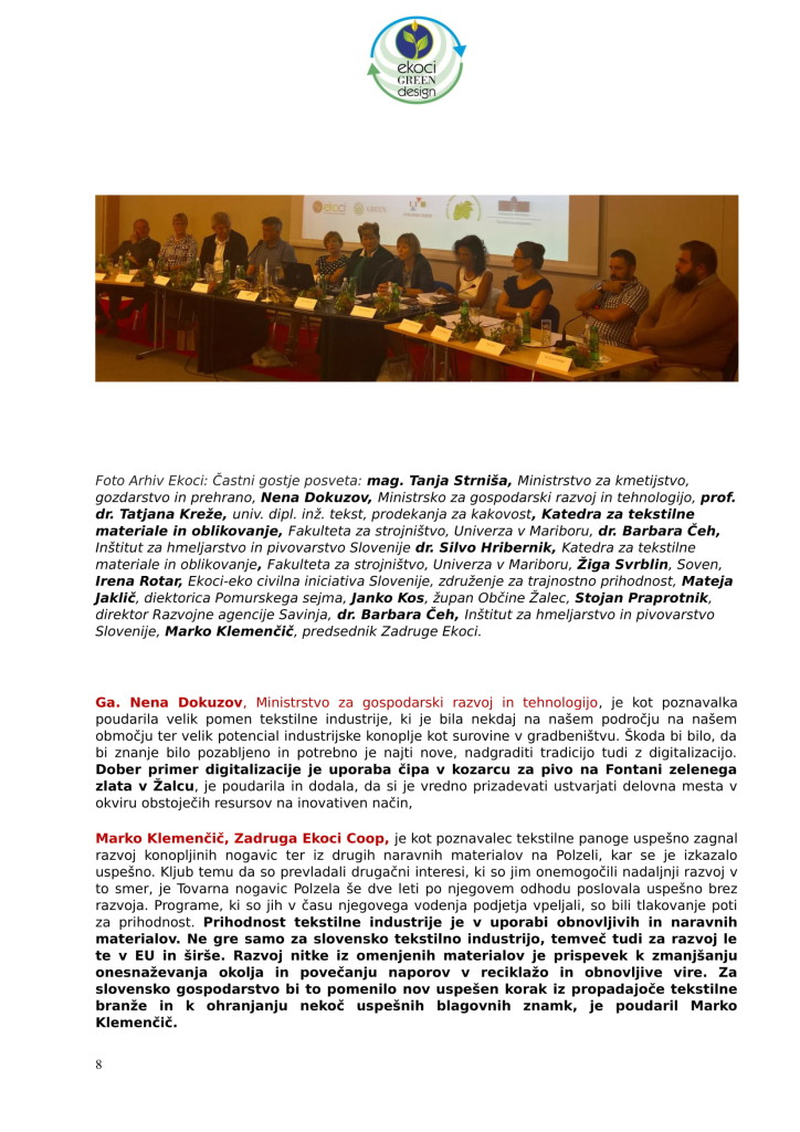 SZJ - posvet Bio krožno gospodarstvo v praksi - industrijska konoplja in podelitev nagrad Ekoci green design-4