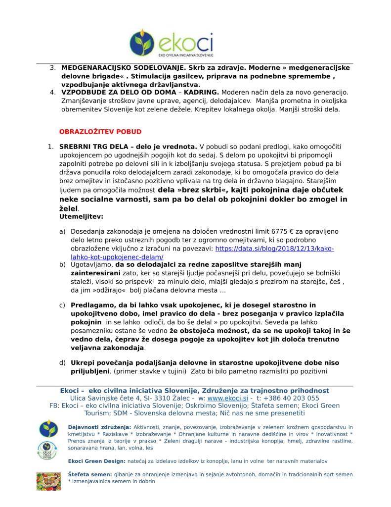 Ekoci - Pobude v preučitev - Srebrni trg dela - aktivno državljanstvo - loklano okolje - podnebne spremembe-2