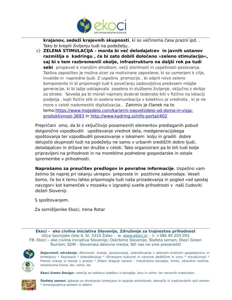 Ekoci - Pobude v preučitev - Srebrni trg dela - aktivno državljanstvo - loklano okolje - podnebne spremembe-8
