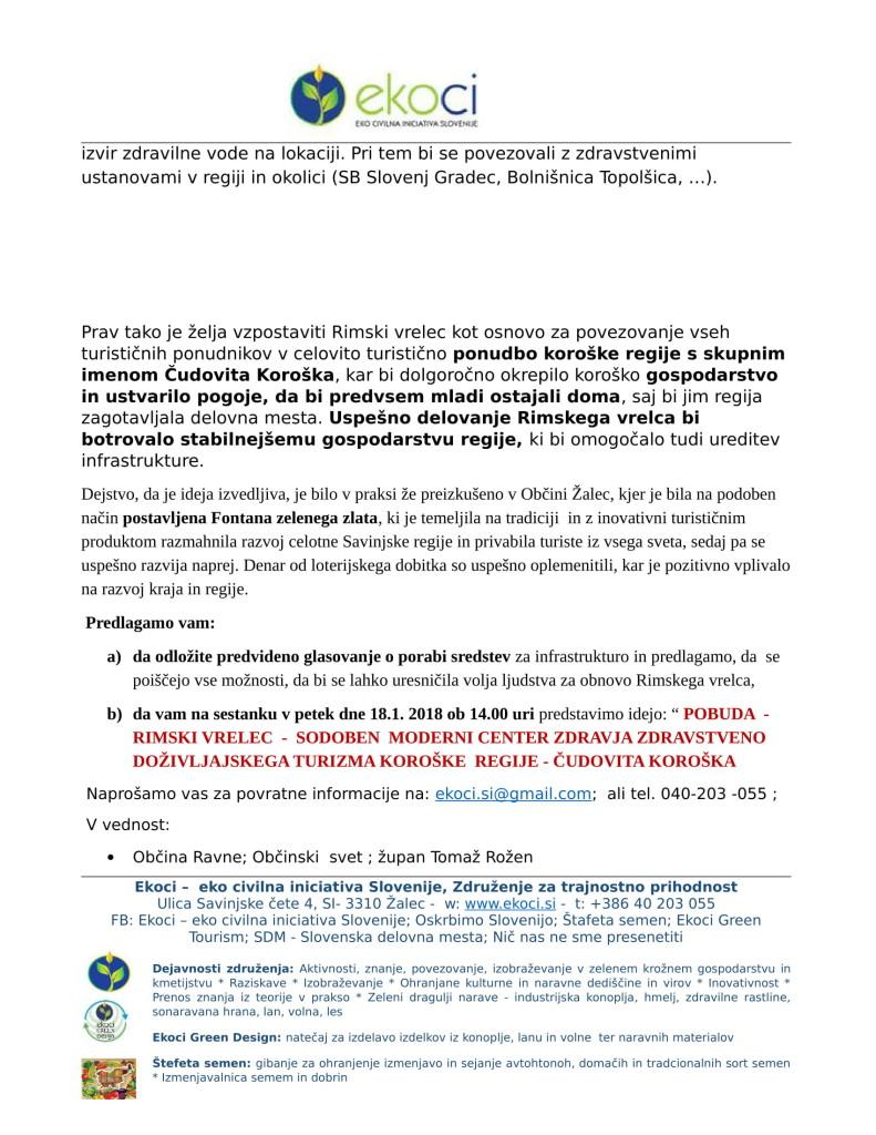 Občina Ravne - Pobuda za ponoven razmislek o porabi sredstev in loterijskega dobitka or. (1)-3