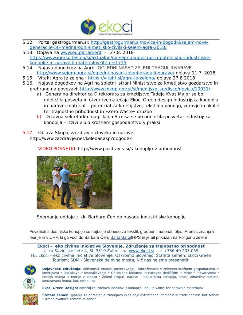 POROČILO O SODELOVANJU V PROJEKTU IINDUSTRIJSKA KONOPLJA V SLOVENIJI E... (1)-09