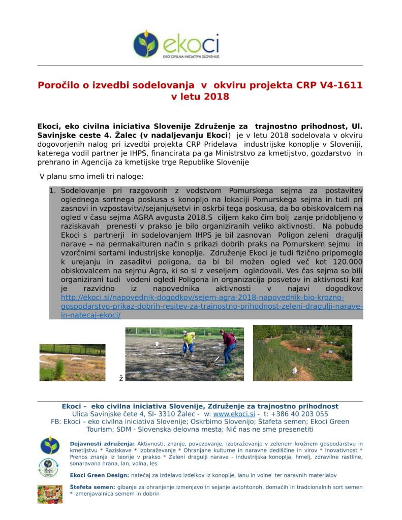POROČILO O SODELOVANJU V PROJEKTU IINDUSTRIJSKA KONOPLJA V SLOVENIJI E... (1)-01