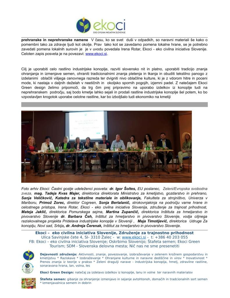 POROČILO O SODELOVANJU V PROJEKTU IINDUSTRIJSKA KONOPLJA V SLOVENIJI E... (1)-03