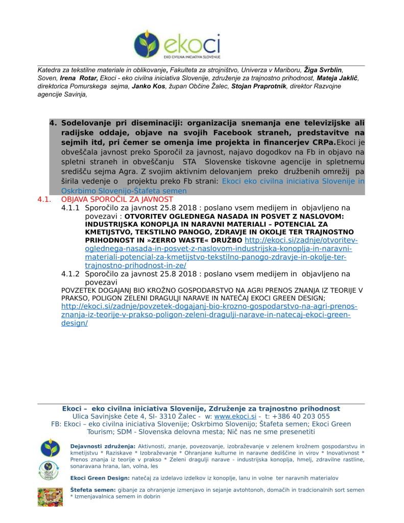 POROČILO O SODELOVANJU V PROJEKTU IINDUSTRIJSKA KONOPLJA V SLOVENIJI E... (1)-05