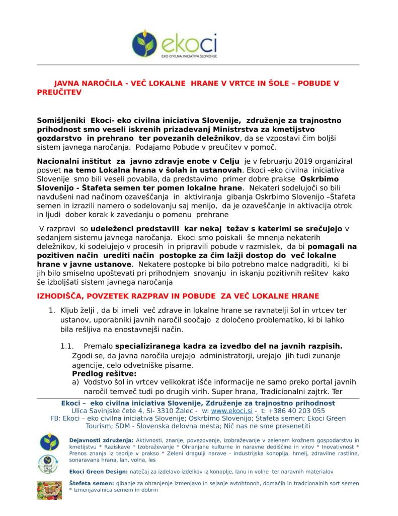 POBUDE - JAVNA NAROČILA - VEČ LOKALNE HRANE V VRTCE IN ŠOLE - V PREUČI...-1