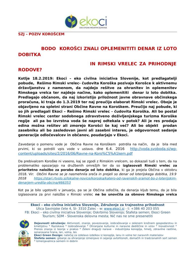 SZJ or -ALI BODO KOROŠCI ZNALI OPLEMENITITI DENAR IZ LOTO DOBITKA IN OPLE...-1