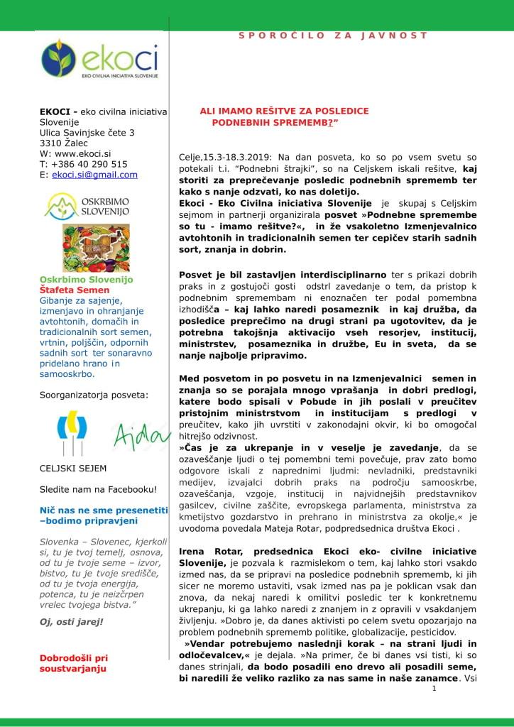 SZJ - ALI IMAMO REŠITVE ZA POSLEDICE PODNEBNIH SPREMEMB -posvet-Altermed 2019-1
