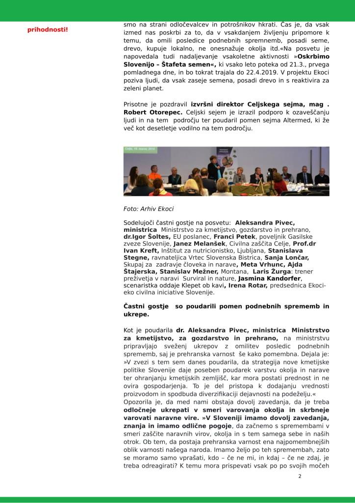 SZJ - ALI IMAMO REŠITVE ZA POSLEDICE PODNEBNIH SPREMEMB -posvet-Altermed 2019-2