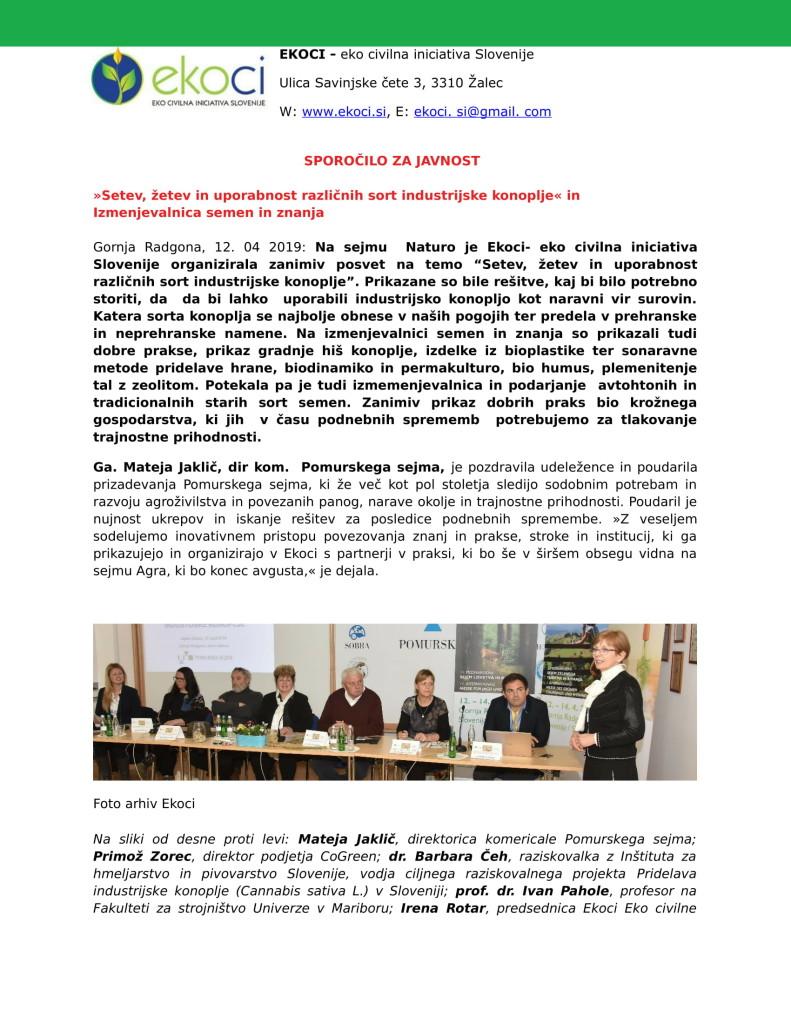SZJ - Posvet o industrijski konoplji sejem Naturo 2019 in prikazi dobr...-1