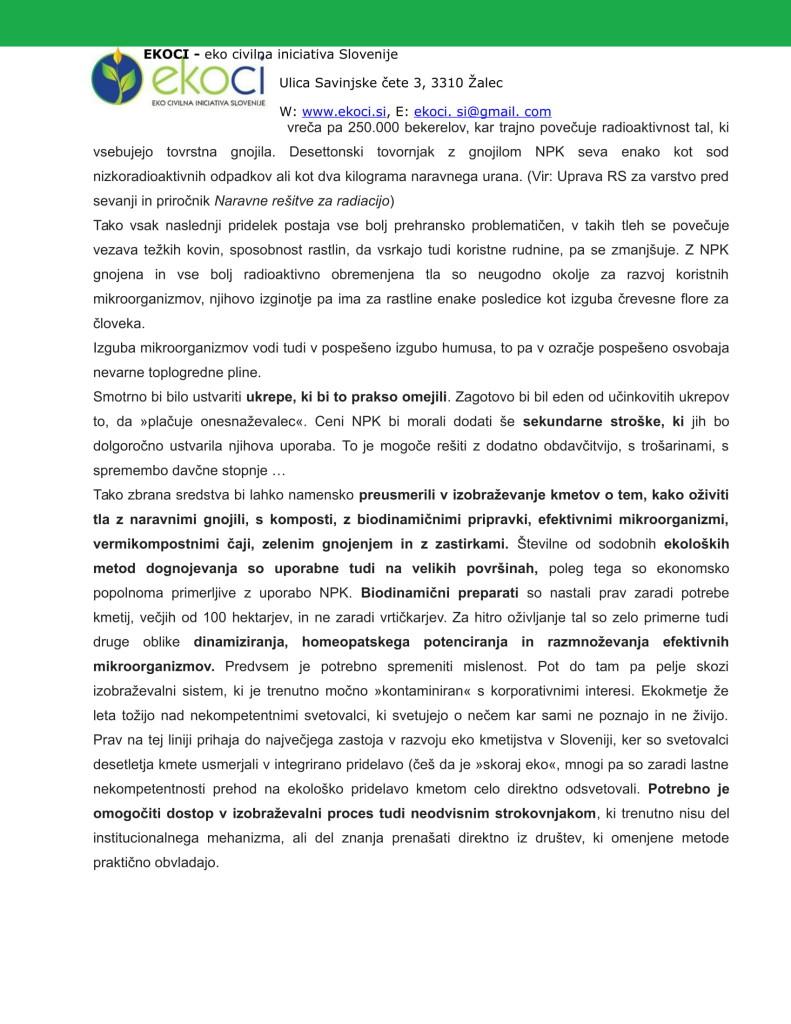 POBUDE IN PREDLOGI K STRATEGIJI ZA NOVO KMETIJSTVO V SLOVENIJI(1)-10