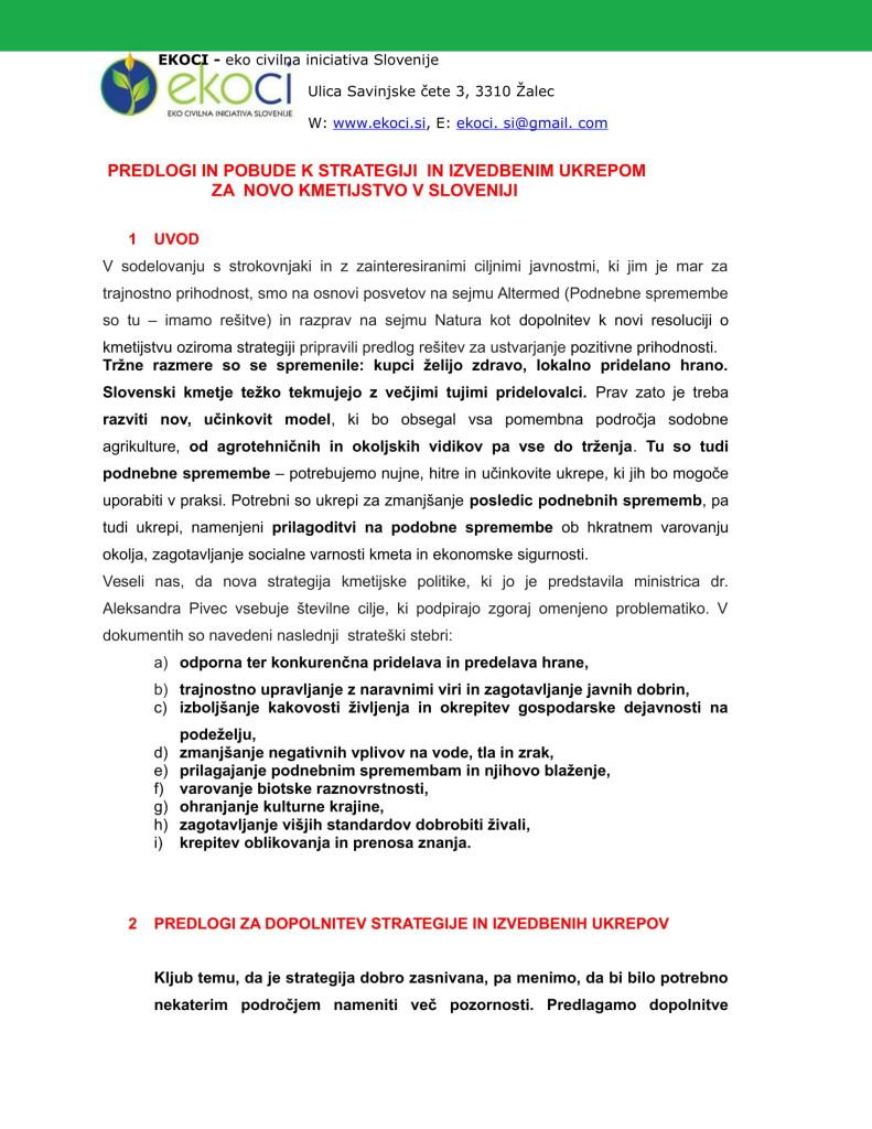 POBUDE IN PREDLOGI K STRATEGIJI ZA NOVO KMETIJSTVO V SLOVENIJI (1)-01
