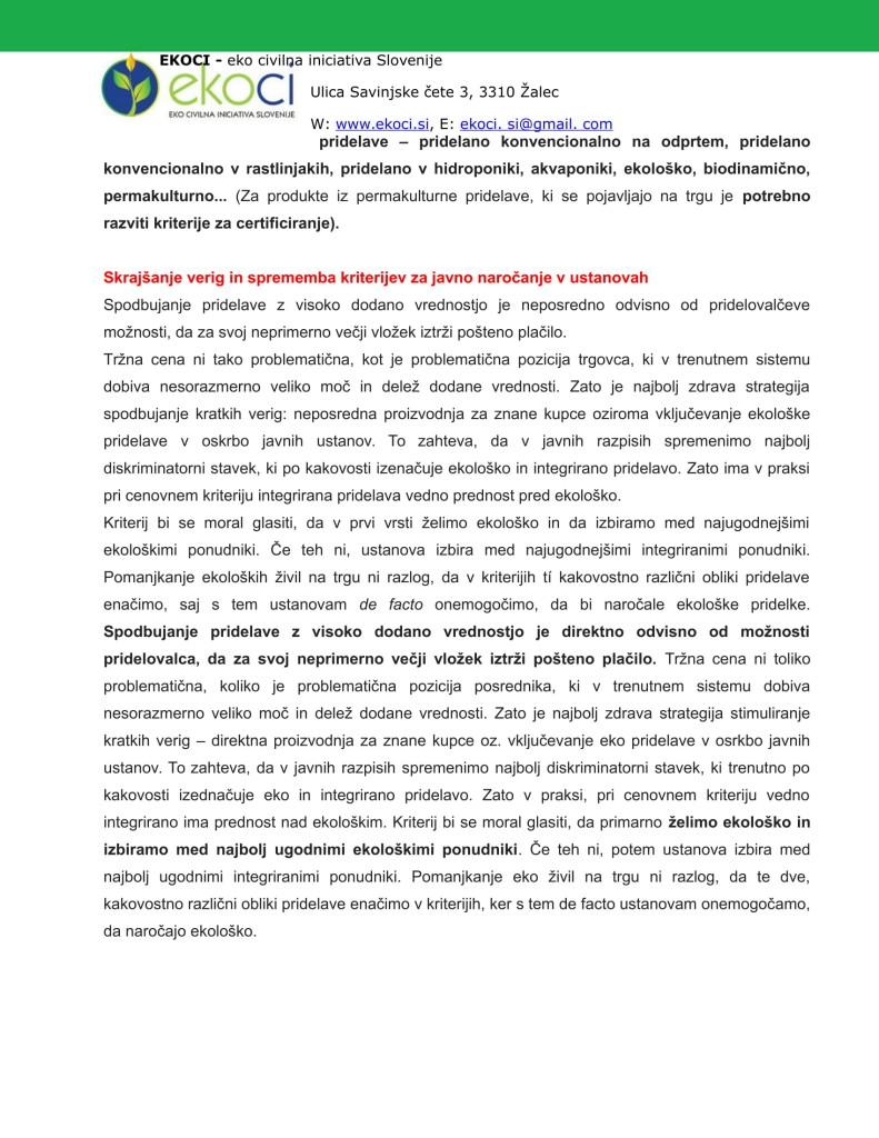 POBUDE IN PREDLOGI K STRATEGIJI ZA NOVO KMETIJSTVO V SLOVENIJI (1)-13
