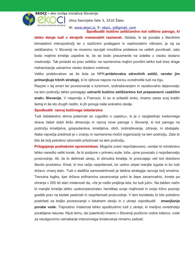 POBUDE IN PREDLOGI K STRATEGIJI ZA NOVO KMETIJSTVO V SLOVENIJI (1)-14